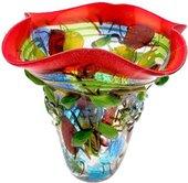 Ваза Top Art Studio Фьюжн 35см, цветное стекло ZB2877-AG