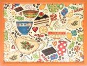 Поднос на подушке Top Art Studio Утренний чай, 41x31см HSN1290-TA