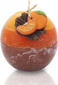 Свеча Апельсин с корицей, шар 8см Bartek Candles 5907602658637