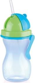 Детская бутылочка с трубочкой 300мл, синий/зелёный Tescoma BAMBINI 668172.54