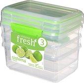Набор контейнеров 1л, 3шт, салатовый Sistema Fresh 951613