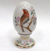 Яйцо фарфоровое на подставке Овсянка, ф. Нева ИФЗ 80.65670.00.1