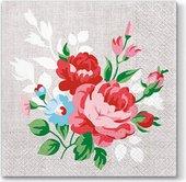 Салфетки ланч Цветы на белье 33x33, 3-сл, 20шт Paw TL695000