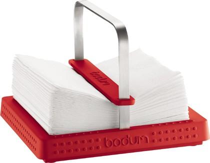 Подставка под салфетки Bistro 20x20см, красная Bodum 11231-294