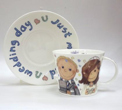 Чашка с блюдцем Свадьба, 500мл Roy Kirkham XBRI1110