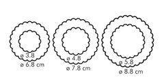 Двухсторонние формочки цветы, 6 размеров Tescoma DELICIA 630861