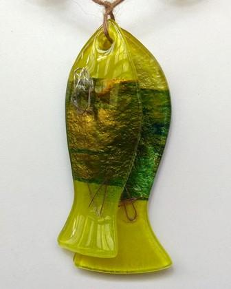 Декор из стекла Рыбки-Оберег 13x20см Top Art Studio LG1246-TA