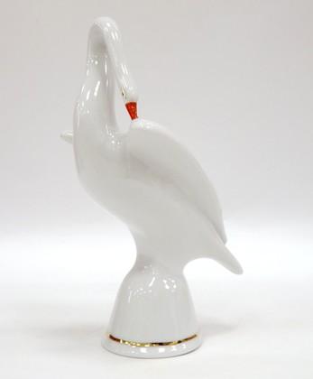 Скульптура Лебедь белый, Дулёвский фарфор ДС494