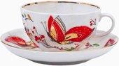 Чашка с блюдцем чайная Бабочки, ф. Тюльпан ИФЗ 81.10088.00.1