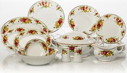 Столовый сервиз 6/26 Английская роза Porcelaine Czech Gold Hands LUISA1343J/26
