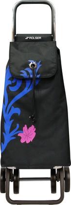 Сумка-тележка хозяйственная сине-чёрная Rolser LOGIC DOS+2 PAC068azul