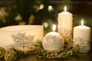 Свеча Рафаэль, колонна 8x12см Bartek Candles 5901685010597