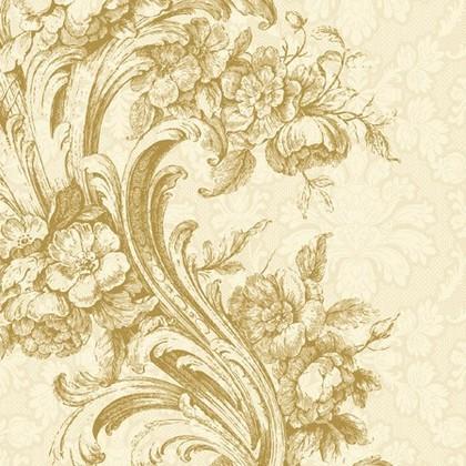 Салфетки Барокко золото, 33x33см, 20шт Paw SDL000209