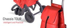 Сумка-тележка Rolser MF, поворотные колёса, складная, красная PAC041rojo