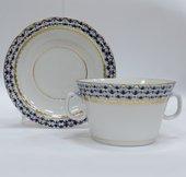 Чашка с блюдцем для бульона Кобальтовая сетка, ф. Молодёжная ИФЗ 81.13919.00.1