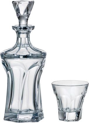 """Набор для виски """"Аполло"""" графин 900мл + 6 стаканов 230мл Crystalite Bohemia 99999/9/99P89/864"""