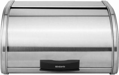 Хлебница из матовой стали Brabantia Storage Touch Bin 397042