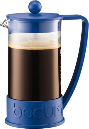 Кофейник с прессом 1.0л, синий Bodum BRAZIL 10938-842