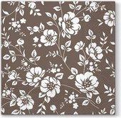 Салфетки для декупажа Paw Орнамент кусты, коричневый, 33x33см, 20шт TL677007