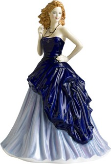 Статуэтка Кати в голубом 22см фарфор Royal Doulton HNFISC23126