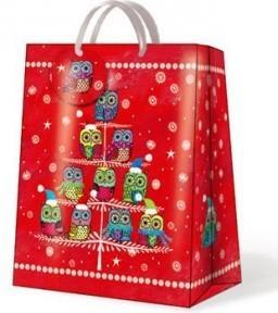"Пакет подарочный ""Зимние совята"" 26х13х33см Paw AGB020205"