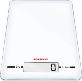 Весы кухонные электронные Soehnle Page Evolution White 5кг/1гр, белые 66177