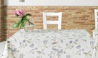 Скатерть текстильная 140х140см, бежевые цветы Aitana Shoko SHOK/140140/nature