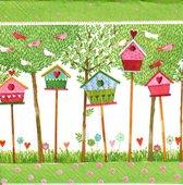 Салфетки для декупажа Птичий домик, 33x33см, 3 слоя, 20шт Paper+Design LN0855