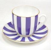 Чашка с блюдцем ИФЗ Ландыш, Да и Нет, фиолетовый 81.25354.00.5