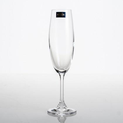 Фужеры для шампанского Клара 220мл, 6 шт Crystalite Bohemia 4S415/220