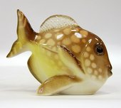 Скульптура Рыба-бабочка Жёлтый, фарфор ИФЗ 82.50095.00.1