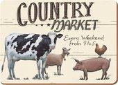 Подставки под тарелки на стол Creative Tops Фермерский рынок 40x29см, 4шт, пробка 5139592