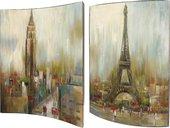 Модульная картина Top Art Studio Городские пейзажи 41x51см, пара, дерево, лак WDP1745-TA