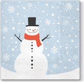 Салфетки для декупажа Paw Счастливый снеговик, 33x33см, 20шт. TL827000