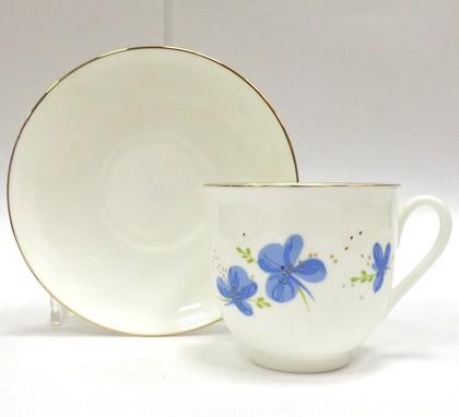 Чашка с блюдцем ИФЗ Ландыш, Голубые цветы 81.17578.00.1