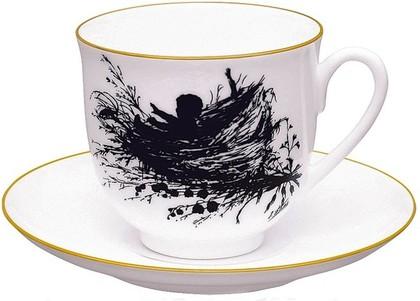 Чашка с блюдцем Силуэты. Гнёздышко, ф. Ландыш ИФЗ 81.17256.00.1
