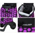 Сумка-тележка хозяйственная компактная фиолетово-чёрная Rolser JOY-1800 BABY BAB001lila/negro
