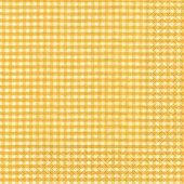 Салфетки для декупажа Желтая клетка, 33x33см, 3 слоя, 20шт Paper+Design 20972