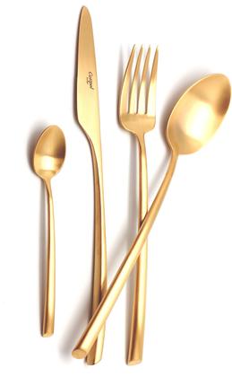 Набор столовых приборов Cutipol Mezzo Matte Gold, 72 предмета, матовое золото 9302-72