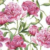 Салфетки для декупажа Розовые пионы 33x33, 3-сл, 20шт Paw TL572000