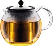 Чайник заварочный с прессом, 1.0л Bodum ASSAM 1801-16