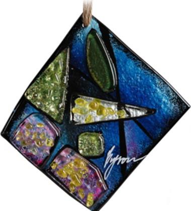 Миниатюра стеклянная Top Art Studio Индиго 15x15см LG1239-TA