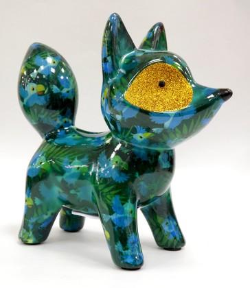 Копилка Pomme-Pidou Лиса Roxie зелёная 148-00234/D