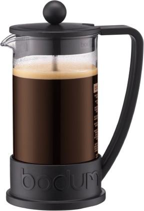 Кофейник с прессом 0.35л, чёрный Bodum BRAZIL 10948-01