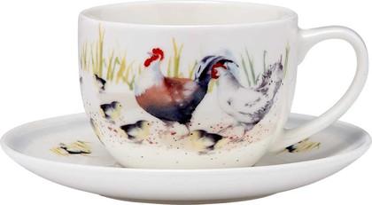 Чашка с блюдцем Ashdene Country Chickens 517287
