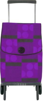 Сумка-тележка хозяйственная фиолетово-чёрная Rolser PLEGAMATIC ORBITA PLE005lila/negro