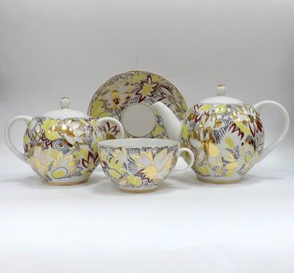 Сервиз чайный  6/14 Золотые ромашки, ф. Тюльпан ИФЗ 81.21622.00.1