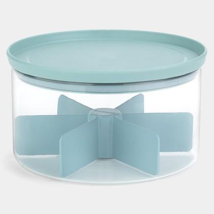 Банка для пакетированного чая Brabantia 2.5л, модульная, стеклянная, крышка мятная 110665
