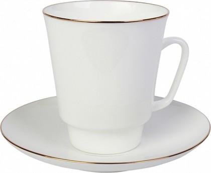 Чашка с блюдцем кофейная 165мл Золотой кантик, ф. Майская ИФЗ 81.13733.00.5
