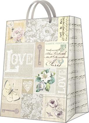 Пакет подарочный бумажный Paw LOVE 30x41x12см AGB1000402
